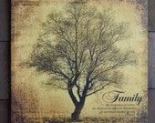 Rustic Family Tree Artwor...