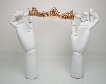 LIZZIE: Gold Coronet Crown made of Brass