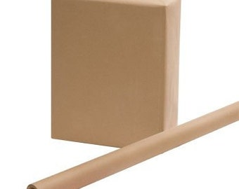 """2' x 8', 24"""" x 96"""" Brown Kraft Paper Roll, 100% Recycled Paper, Gift Wrapping, Packaging Paper, Brown Heavyweight Paper, Packaging Material"""