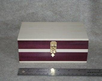 Small Box Purple Heart and Maple