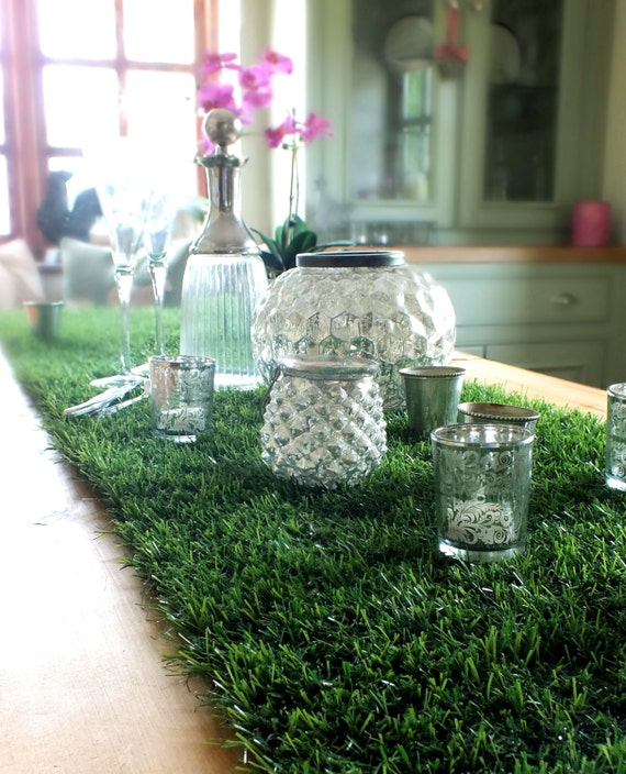 Artificial grass table runner for Artificial grass decoration crafts