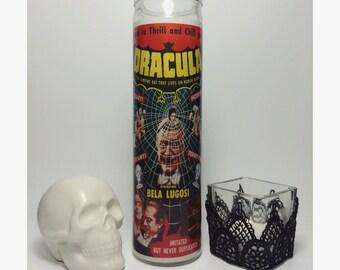 Universal Monsters Dracula Bela Lugosi Horror Prayer Candle