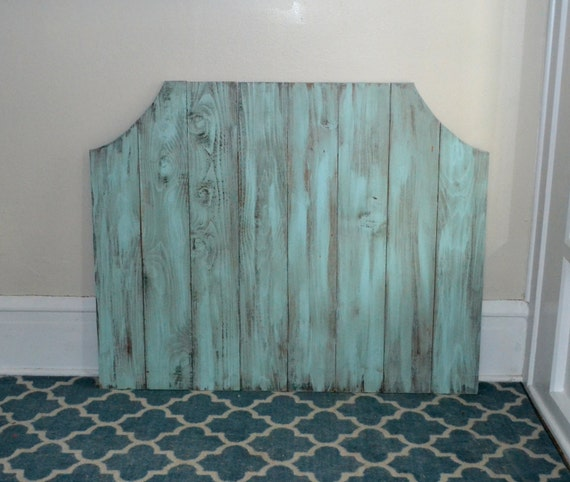 The Blue Atlas Wooden Distressed Headboard By Themooseduck