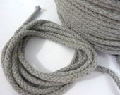 50 yds /100 yds  Gray Cotton Cord Braid Cord Twisted Cord String Drawstring Cord Rope 4mm Diameter CC14
