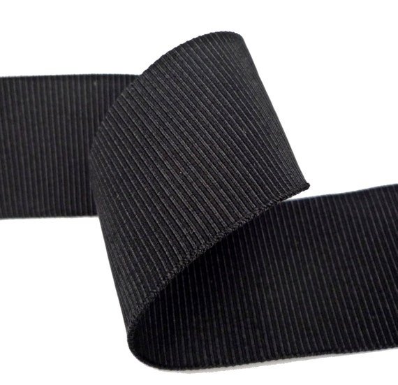 Strong Thick & Stretch Black Petersham Ribbon By ForYouAllshop