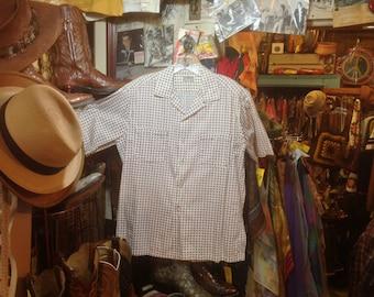 1950s McGregor Paisley Print Sport Shirt sz. 40/42 Exellent Condition