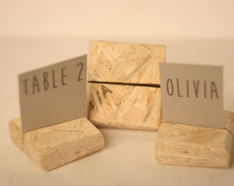 16 pieces rustic place card holders, Wedding placecard, name holdes.