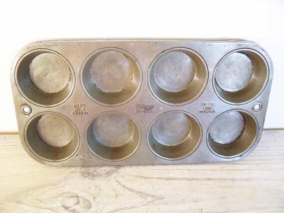 Vintage Muffin Pan Kellogg's All-Bran Muffin Tin Promotional Advertising 1960s Vintage Kitchen Gadget Tool