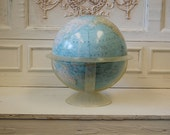 "MCM National Geographic 12"" World Classic Series Globe with Clear Plastic Stand - James Darley Cartographer - Vintage Mid Century Modern"