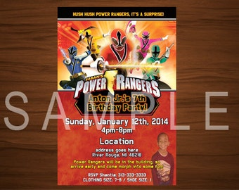 Power Rangers Invitation