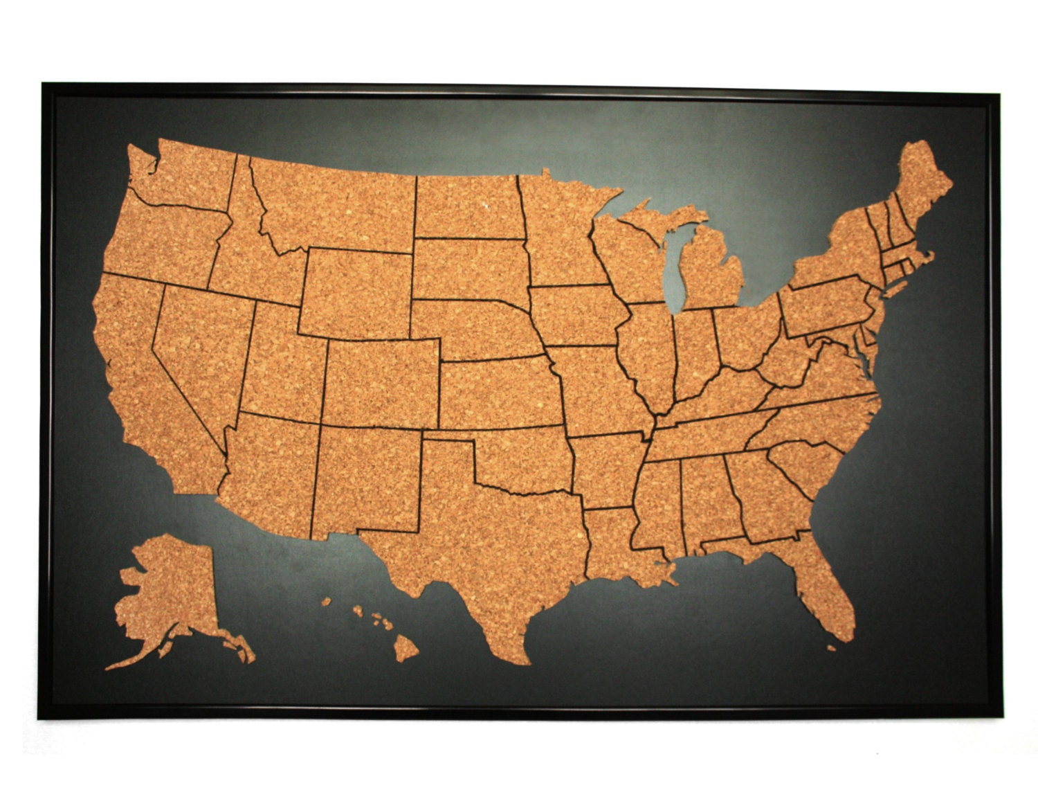 Corkboard map – Us Travel Maps