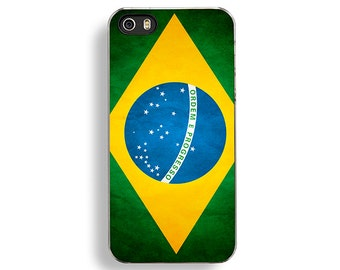 Flag of Brazil iPhone 5/5S Case - iPhone 4/4S Case - iPhone 5C Cases - Brazilian Flag - World Cup 2014