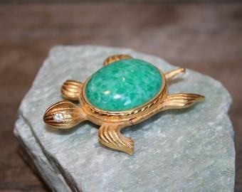 AVON turtle perfume broch