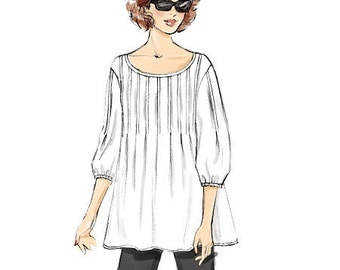 Butterick Sewing Pattern B6024 Misses' Front-Tuck Tops