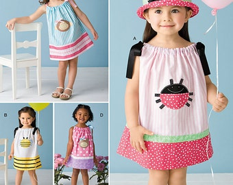 Toddlers' Dresses Simplicity Pattern 2383