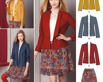 Simplicity Sewing Pattern 1542 Misses' Jacket and Skirt