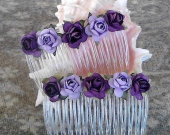 Purple Passion Hair combs with free shipping  Hair accessories fashion combs
