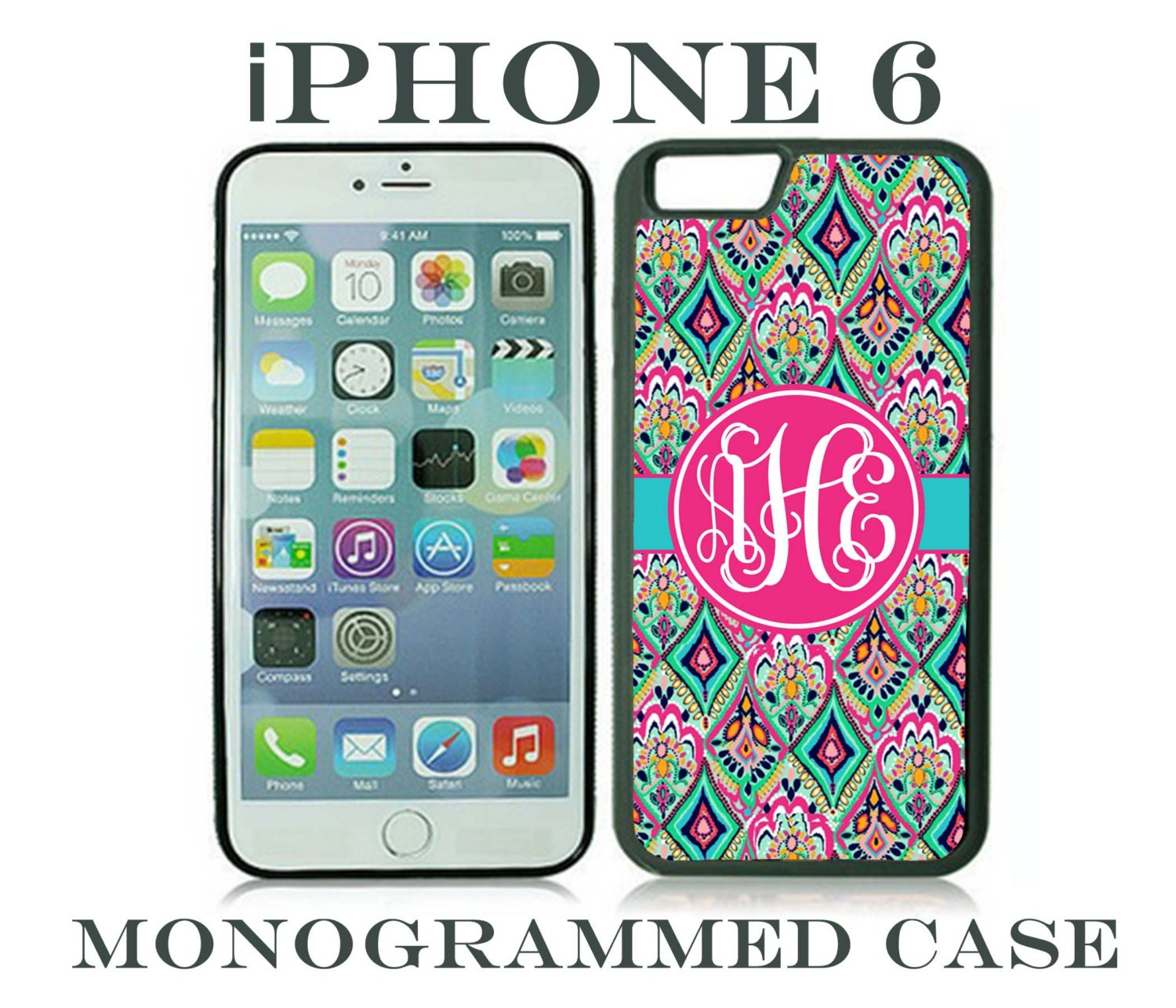 cheap cellphone cases  monogram iphone 6 case personalized phone case iphone 6 plus lilly