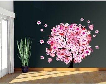 Flower Tree wall decal, sticker, mural, vinyl wall art