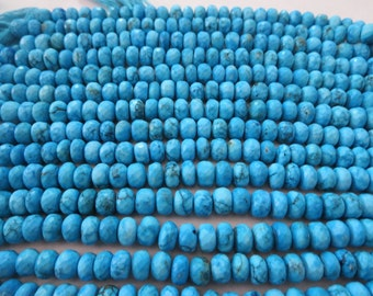 Natural Turquoise Rondelle beads facited 10x10 mm