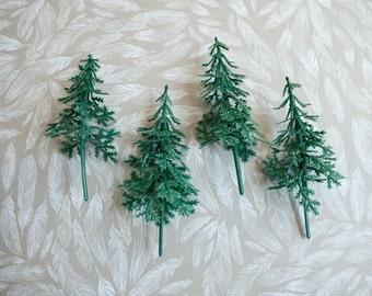 12 Pine Tree Cupcake Picks - Christmas Tree Cupcake Toppers