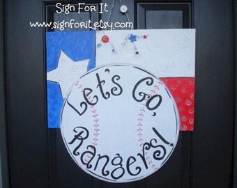 Rangers Baseball Door-Hanger