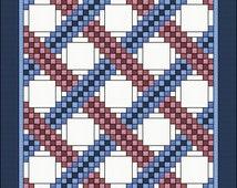 Irish Chain Quilt Pattern - Braided Triple Irish Chain - Multiple sizes