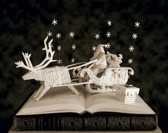 "Postcard of sculpture from book ""Christmas stories"" by Charles Dickens"