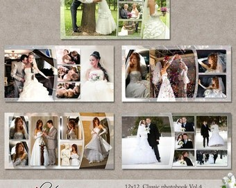 "12x12 Templates ""Classic Photobook"" Vol.4 (PSD) 5 layered double templates"