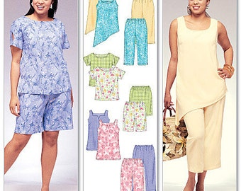 OUT of PRINT McCall's Pattern M4097 Women's Top, Tunics, Shorts and Capri Pants
