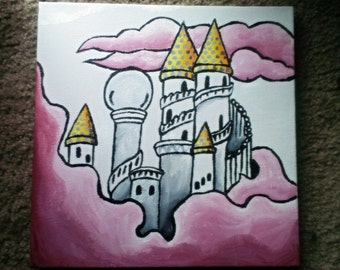 Fairy Tale Castle Painting