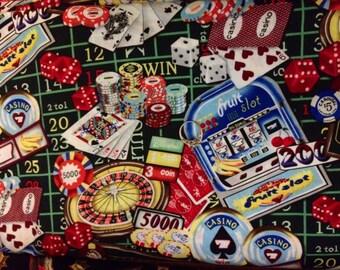 Gambling casino chip slots dice fabric one yard