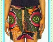 Lamle African Print /Ankara Shorts/ African Wax Print Shorts/Kitenge Shorts/Ethnic Shorts