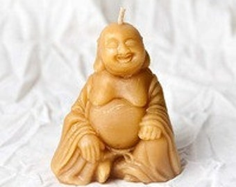 Beeswax Happy Buddha Candle