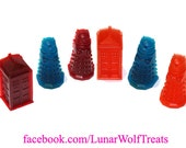 Gummy T.A.R.D.I.S. and Dalek sets!