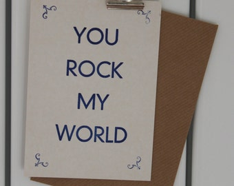 You Rock My World  postcard