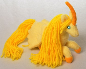Golden Alicorn Plush