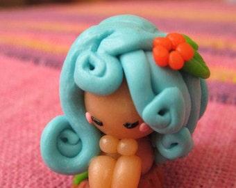 Cernit polymer clay fimo handmade Nimph tree chibi cute