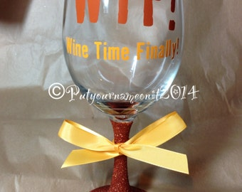WTF! Wine glass, perfect gift for the wine lover