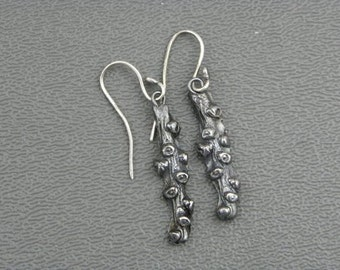 Stunning Silver branches, hand made wire earrings #33