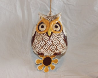 Vintage ceramic owl bell