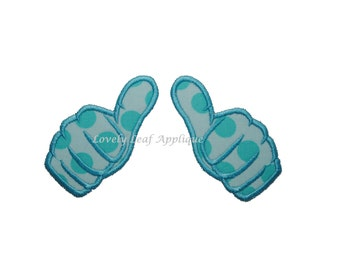 DIGITAL ITEM: Thumbs Up Applique (3 Sizes)
