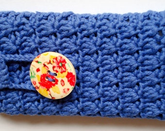 Cell phone cosy, cell phone sleeve, mobile phone, blue