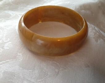 Caramel Marbled Plastic Bracelet