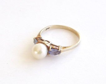 Tanzanite and Pearl Ring  On Sale!