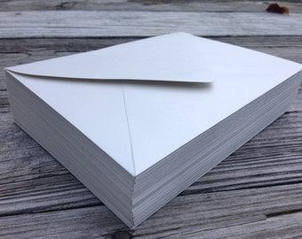 50 A7 Invitation or A1 (4Bar) RSVP Pointed Flap Envelopes - Shimmer Silver Paper Source Envelope