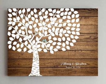 125 Guest Wedding Guest Book Wood Wedding Tree Wedding Guestbook Alternative Guestbook Poster Wedding Guestbook Poster - Wood design