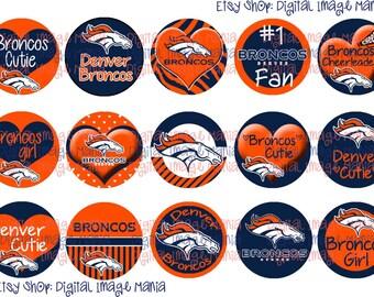 INSTANT DOWNLOAD Denver Broncos INSPIRED 4x6 Digital Printable 1 Inch Circle Bottle Cap Images