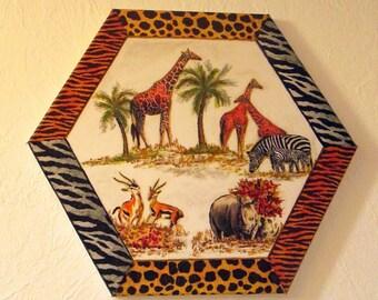 """Canvas art """"Africa"""""""