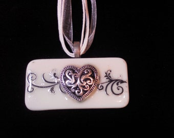 Heart Domino Necklace